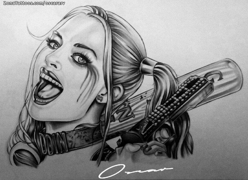 Harley Quinn Tattoo Designs Drawings Hd Wallpapers