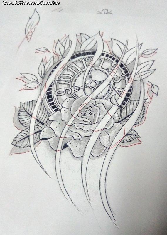 Diseno De Relojes Rosas Flores