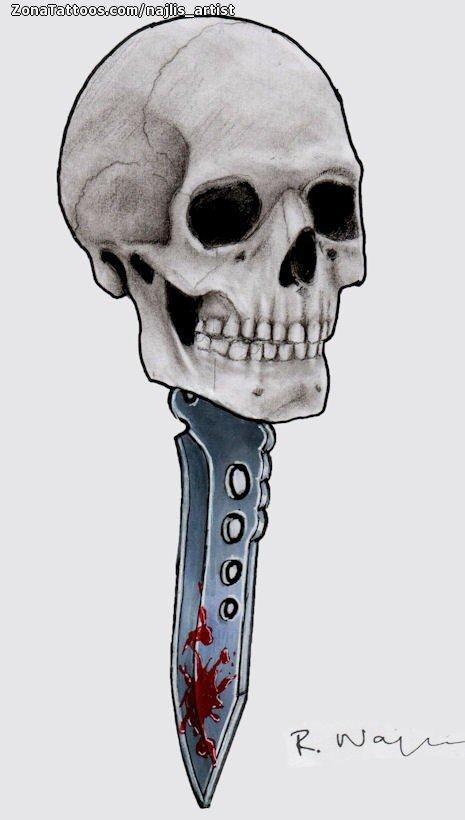 Diseño De Calaveras Góticos Armas