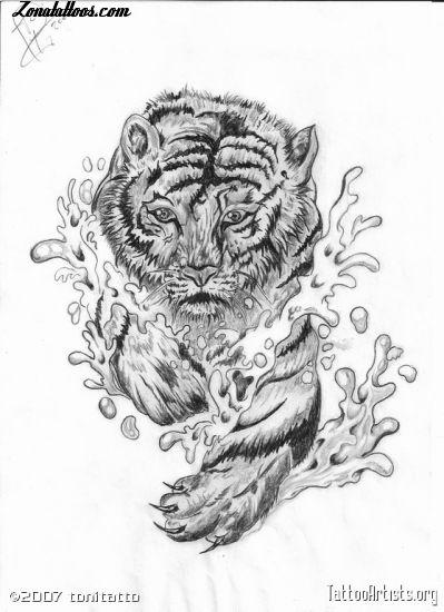 dise241o de tigres animales