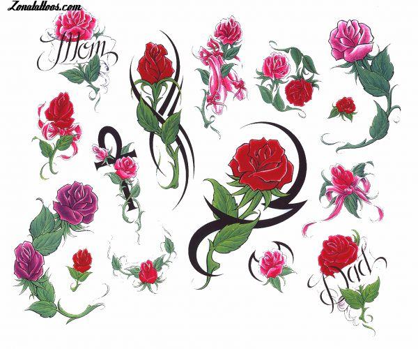 Diseño De Rosas Flores