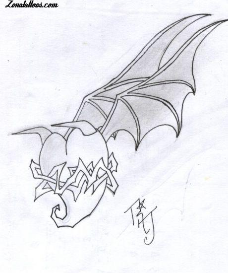 Plantilla/Diseño Tatuaje de neron525 - Corazones Alas
