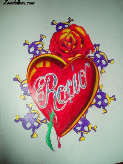 Tatuajes Y Diseños Del Nombre Rocío Zonatattoos