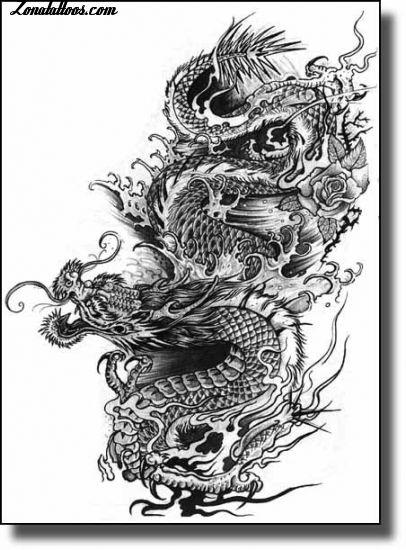 Dragon Oriental Tattoo Plantillas Tatuajes De Wwwimagenesmycom