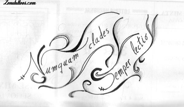 Plantillas De Tatuajes De Letras Cursivas Letra Cursiva Inglesa - Letras-en-latin-para-tatuajes