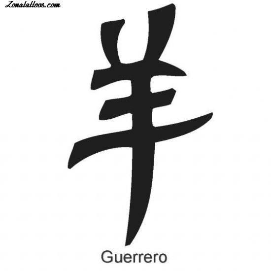 Plantilla/Diseño Tatuaje de Adrian14 - Letras Chinas Kanjis Letras