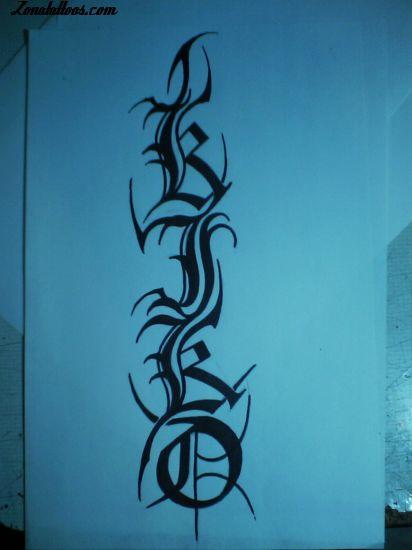 tatuajes con letras griegas. dibujo angel tatuaje bebe. Dibujo de tatuajes de letras - Dibujos de