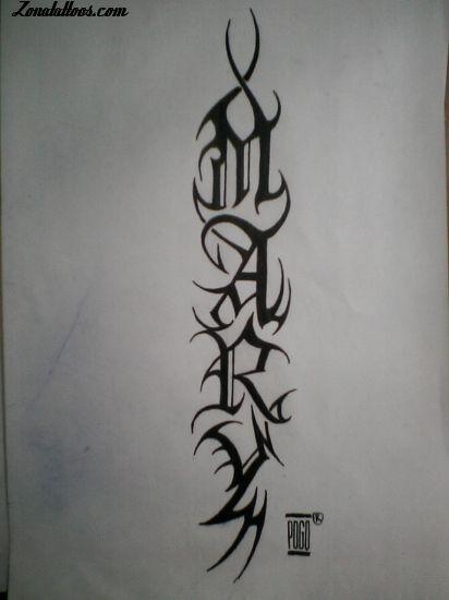 tatuajes de alacranes. tatuajes letras tribales. ZonaTattoos.com - Plantilla de GENOMAPOGO