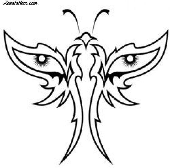 Diseño De Mariposas Tribales