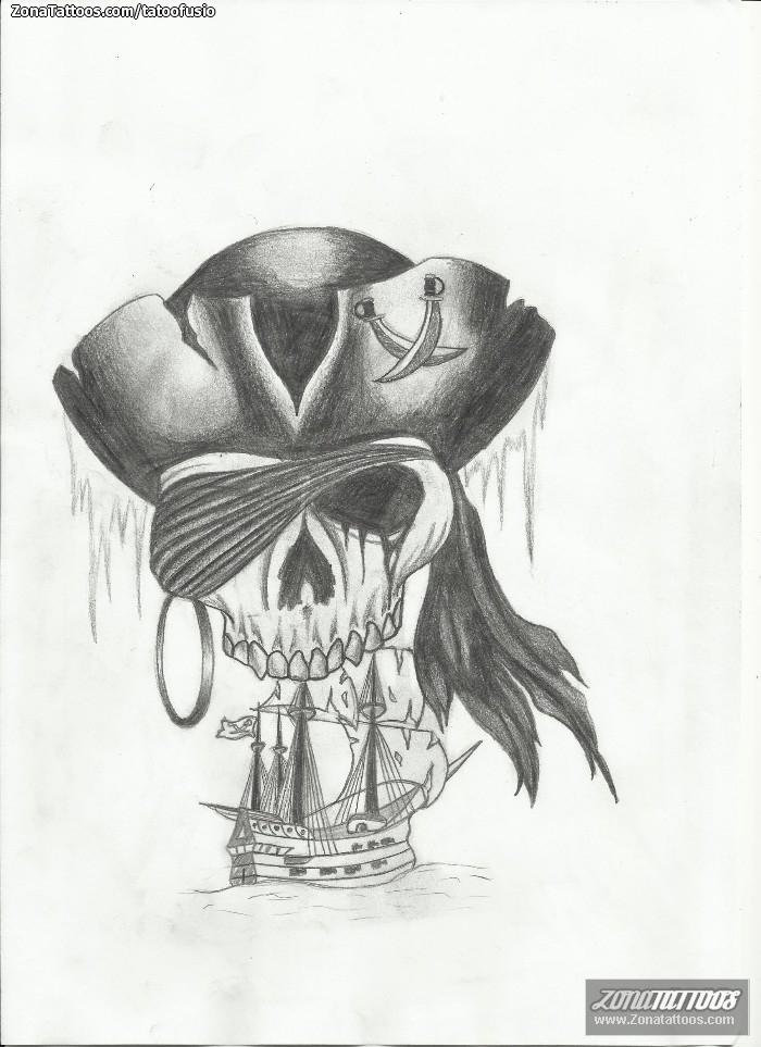 Diseño de Barcos, Piratas, Calaveras