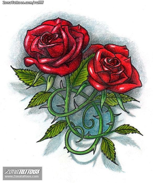 Diseno De Rosas Flores Espinos - Diseos-de-rosas