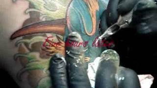 Proceso de tatuaje de Hannya Oni